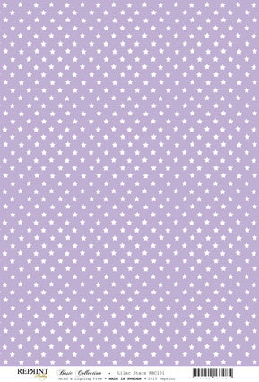 RBC101 Basic Collection A4 200gr Purple stars