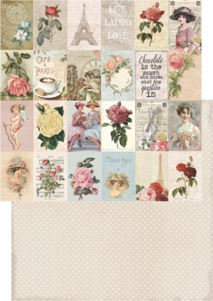 RP0201 My Rose Garden Collection scrap dubbelzijdig 200gr 12x12 Labels