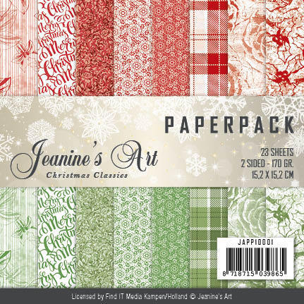 JAPP10001 Paperpack - Jeaninnes Art - Christmas Classics