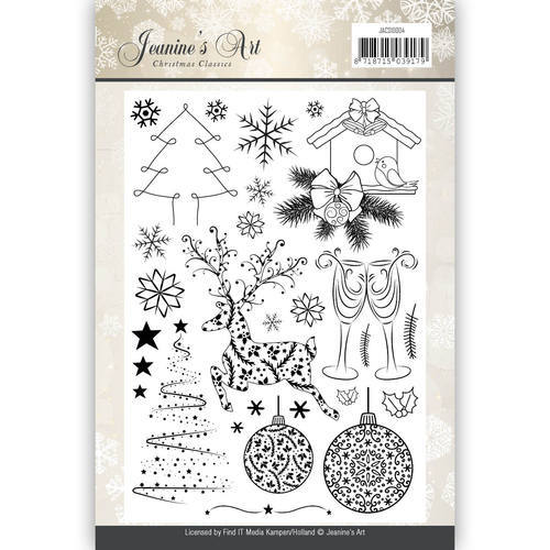 JACS10004 Clearstamp - Jeaninnes Art - Christmas Classics