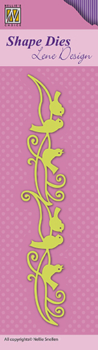 "SDL042 Shape Dies Lene Design border ""birds"""