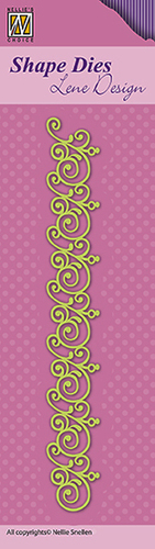"SDL044 Shape Dies Lene Design border ""swirls"""