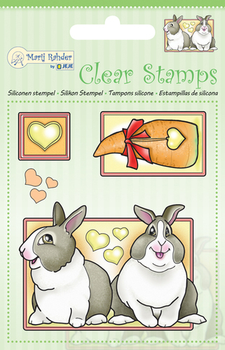 9.0041 MRJ Clear stamps Rabbits