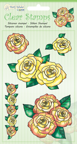 9.0046 MRJ Clear Stamps Roses
