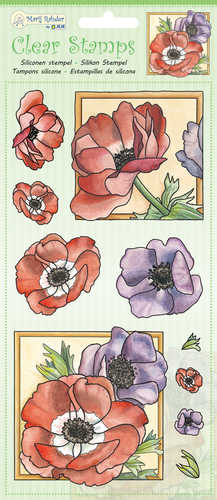 9.0049 MRJ Clear Stamps Poppy