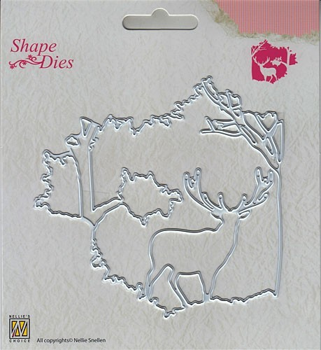 "SD130 Shape Dies ""Christmas window scene-1"""