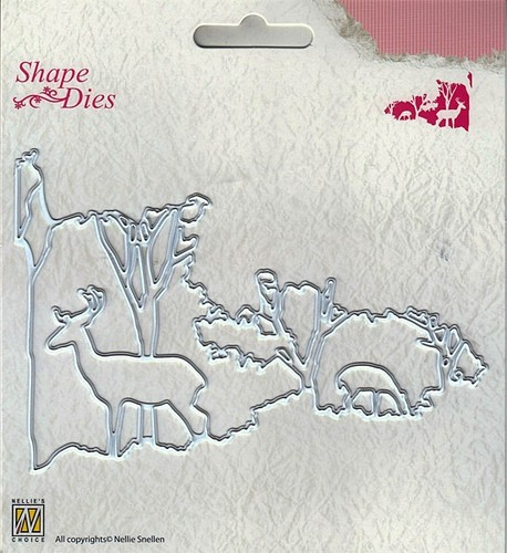 "SD131 Shape Dies ""Christmas window scene-2"""