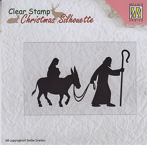 CSIL002 Christmas Silhouette Clear stamps nativity
