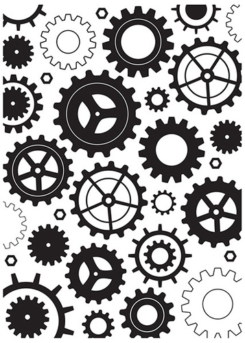 HSF014 Embossing folder Cogwheels