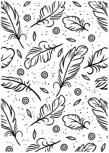 HSF015 Embossing folder Feathers