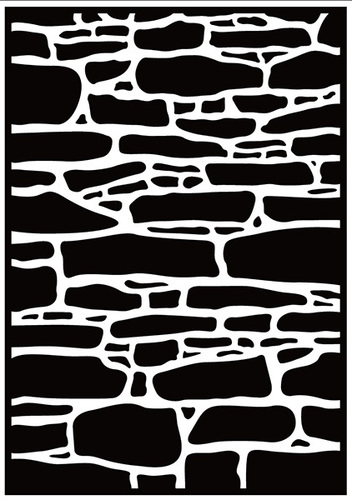 HSF019 Embossing folder Stone wall