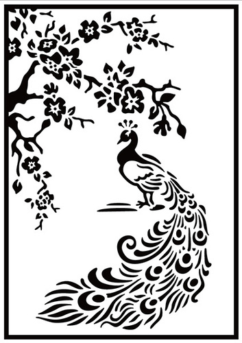 HSF020 Embossing folder peacock