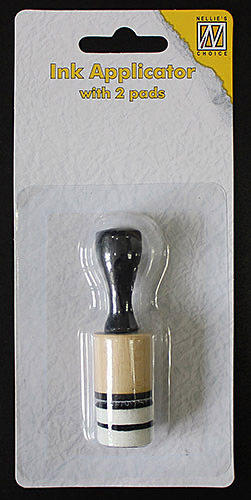 IAP004 Small ink applicator with 2 pads 2cm (Dauber dowel small)