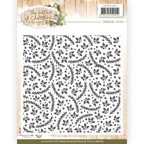 PMEMB10011 Precious Marieke - Embossingfolder - The nature of Christmas