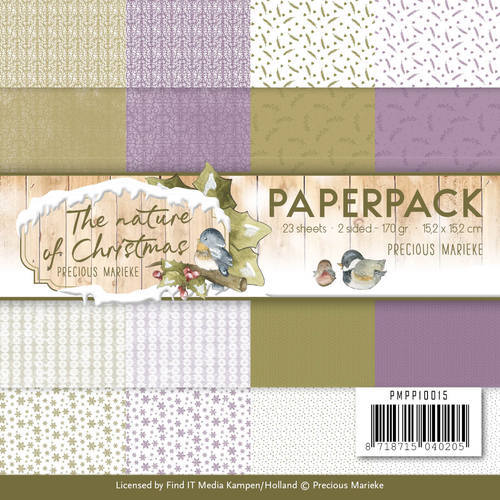 PMPP10015 Paperpack - Precious Marieke - The Nature of Christmas