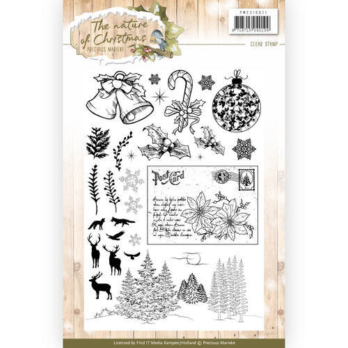 PMCS10021 Clear Stamp - Precious Marieke - The Nature of Christmas