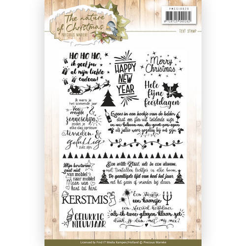 PMCS10020 Clear Stamp - Precious Marieke - The Nature of Christmas