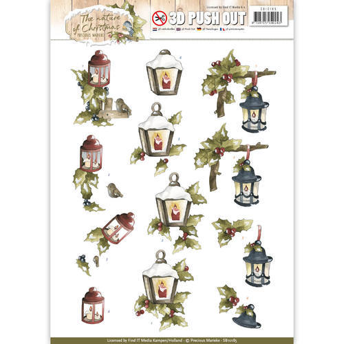 SB10185 Pushout - Precious Marieke - The Nature of Christmas - Christmas Lantern