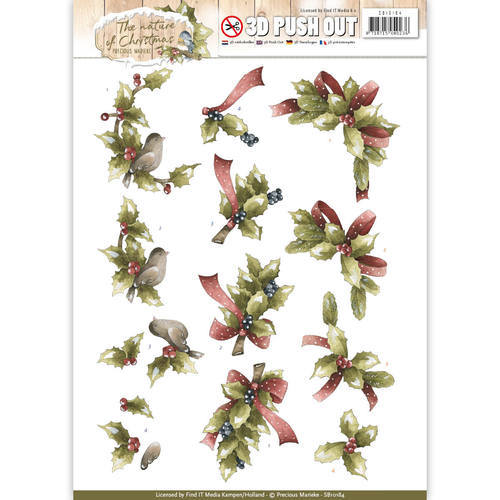 SB10184 Pushout - Precious Marieke - The Nature of Christmas - Christmas Holly
