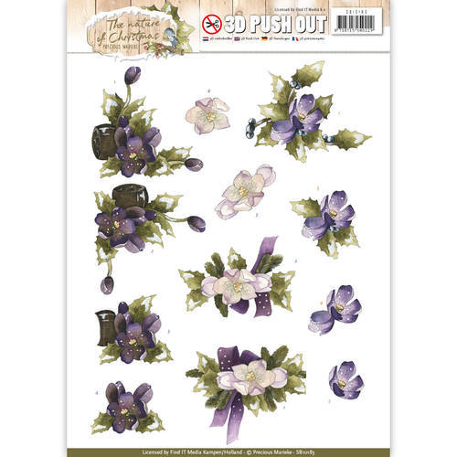 SB10183 Pushout - Precious Marieke - The Nature of Christmas - Christmas Flowers