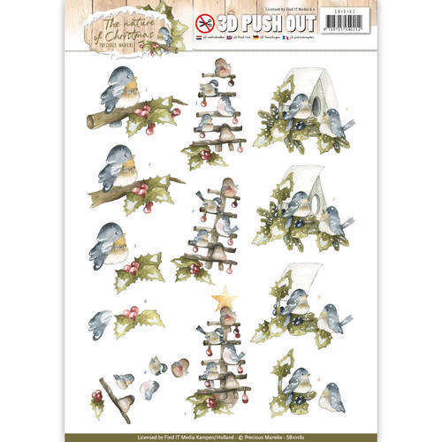 SB10182 Pushout - Precious Marieke - The Nature of Christmas - Christmas Birds