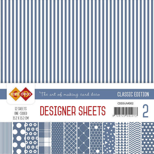 CDDSUM001 Card Deco - Designer Sheets -  Classic Edition- ultramarijn