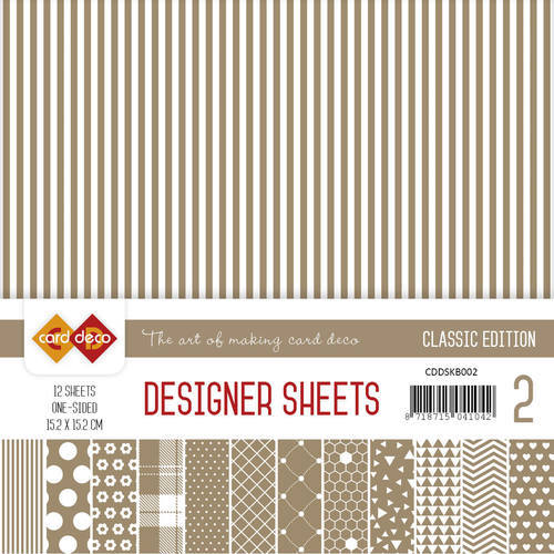 Card Deco - Designer Sheets -  Classic Edition- koffiebruin