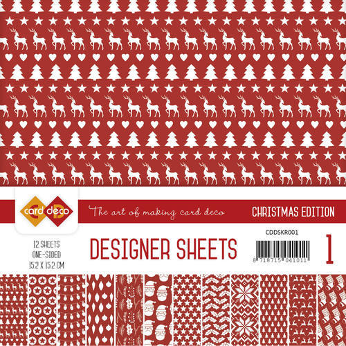 CDDSKR001 Card Deco - Designer Sheets -  Christmas Edition - kerstrood