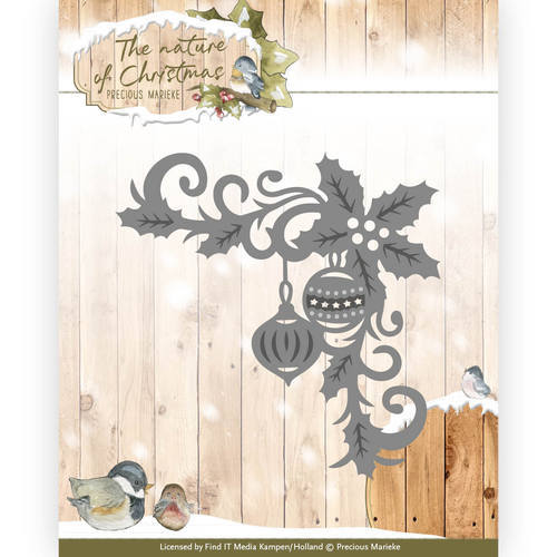 PM10100 Die - Precious Marieke - The nature of Christmas - Christmas Corner