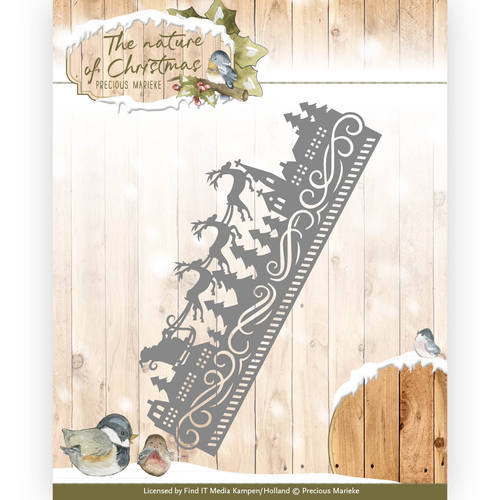 PM10099 Die - Precious Marieke - The nature of Christmas - Christmas Border