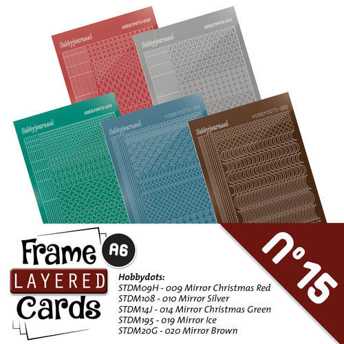 LCST015 Stickerset Frame Layered Cards 15- A6