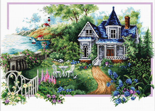 740.068 No-Count Cross Stitch Kits Summer Comes 59x39cm