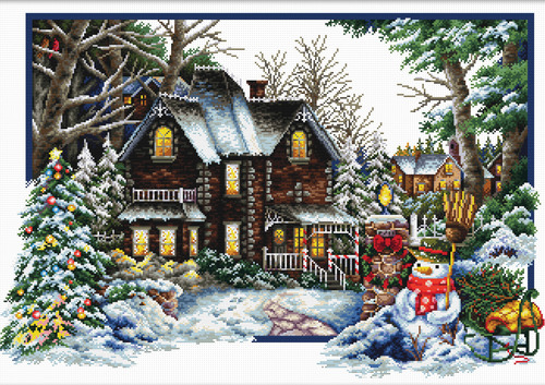 740.072 No-Count Cross Stitch Kits Winter Comes 59x39cm