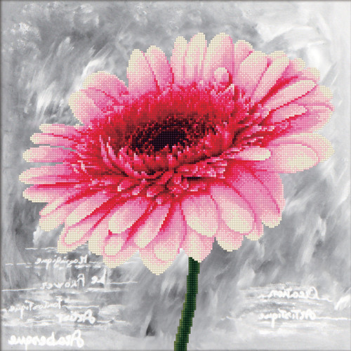 450.018 No-Count Cross Stitch Kits Pink Dahlia 43x4cm