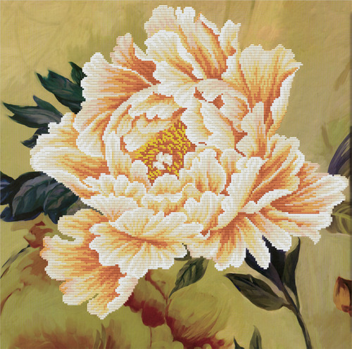450.037 No-Count Cross Stitch Kits Blooming Peony2 51x51cm
