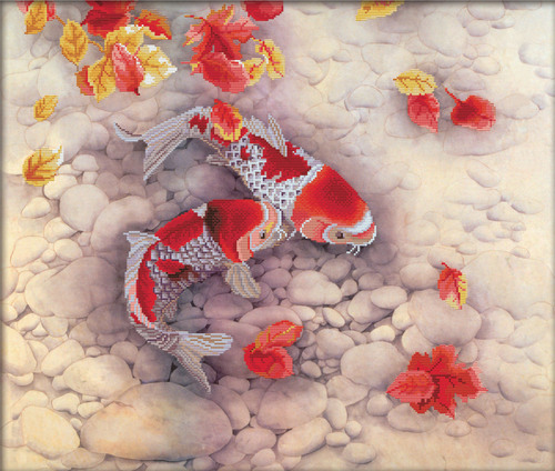 750.020 No-Count Cross Stitch Kits Koi Carp 67x57cm