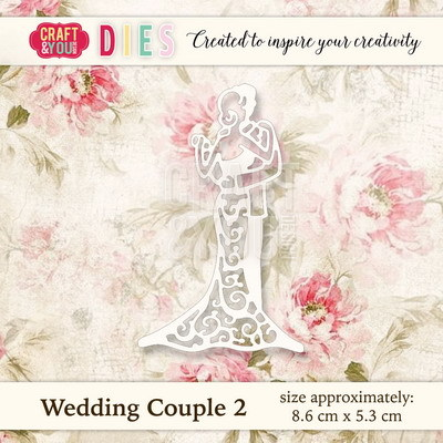 CW019 Die Wedding Couple 2 - 8,6x5,3cm