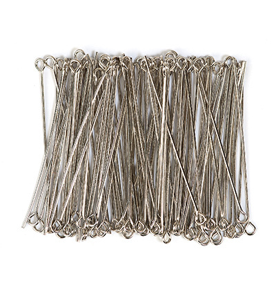 10316-4501 Eye pin, 45mm, Platinum, 100pcs/header bag