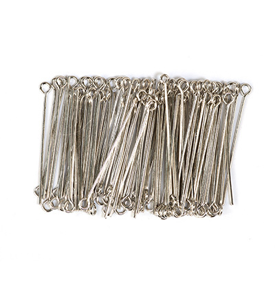 10316-3201 Eye pin, 32mm, Platinum, 100pcs/header bag