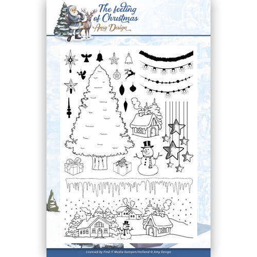 ADCS10019 Clear Stamp - Amy Design - the feeling of Christmas