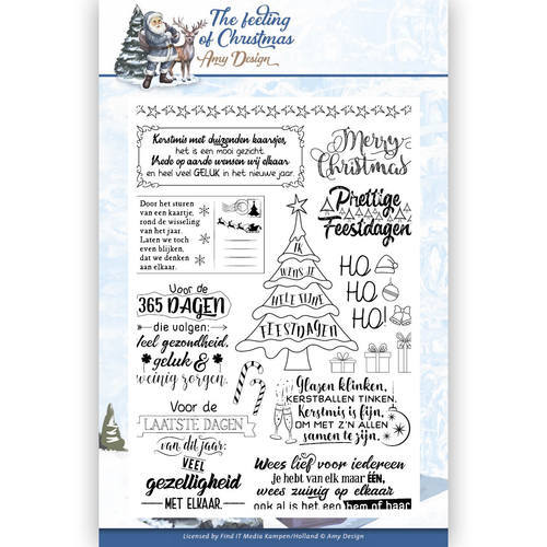 ADCS10018 Clear Stamp - Amy Design - the feeling of Christmas
