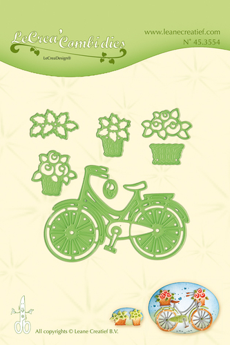 Leabilitie® Bicycle with baskets cut and embossing die