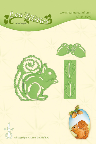 Leabilitie® Squirrel cut and embossing die