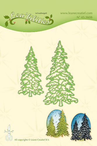 Leabilitie® Christmas trees cut and embossing die
