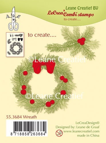 55.3684 Combi clear stamp Wreath