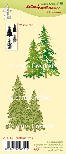 55.3714 Combi clear stamp Christmas trees