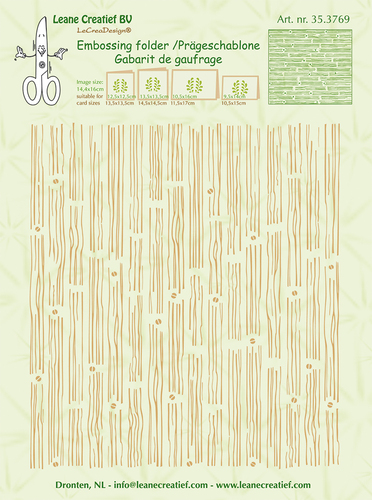 35.3769 Embossing folder background Wood 14.4x16cm