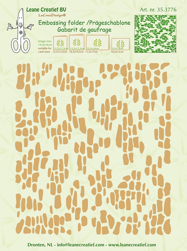 Embossing folder background Pebbles wall 14.4x16cm