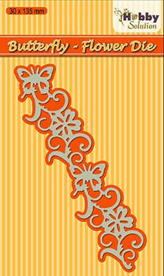 HSDJ009 Hobby Solutions Die Cut Butterfly-flower border