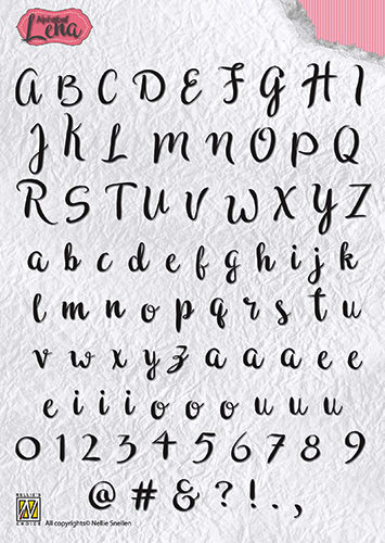 ALCS001 Clear Stamps Alphabet Lena